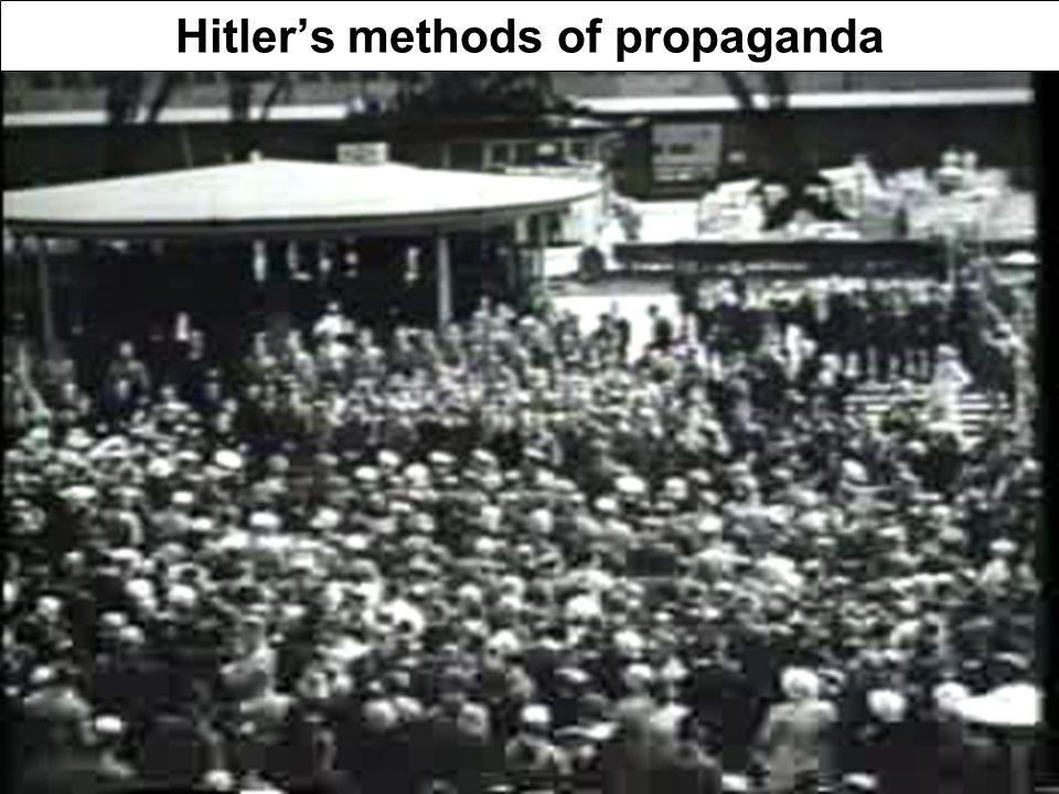 Hitler's methods of propaganda