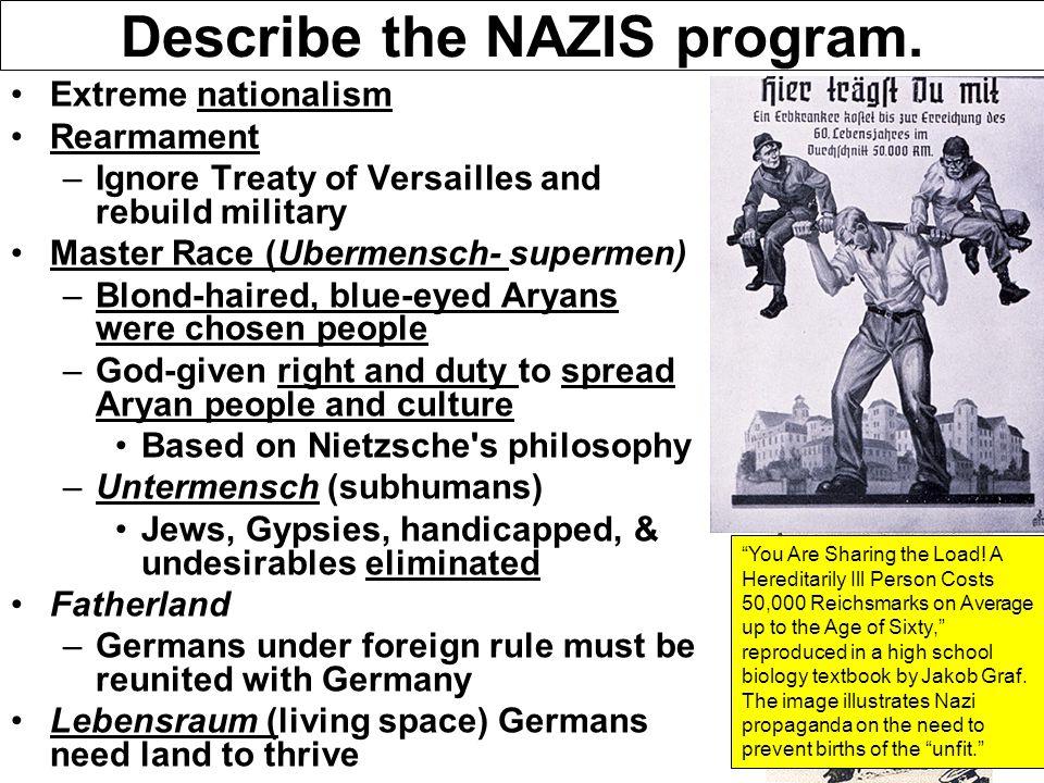 Describe the NAZIS program.