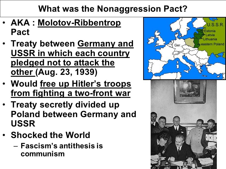 What was the Nonaggression Pact.