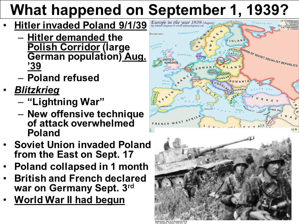 What happened on September 1, 1939.