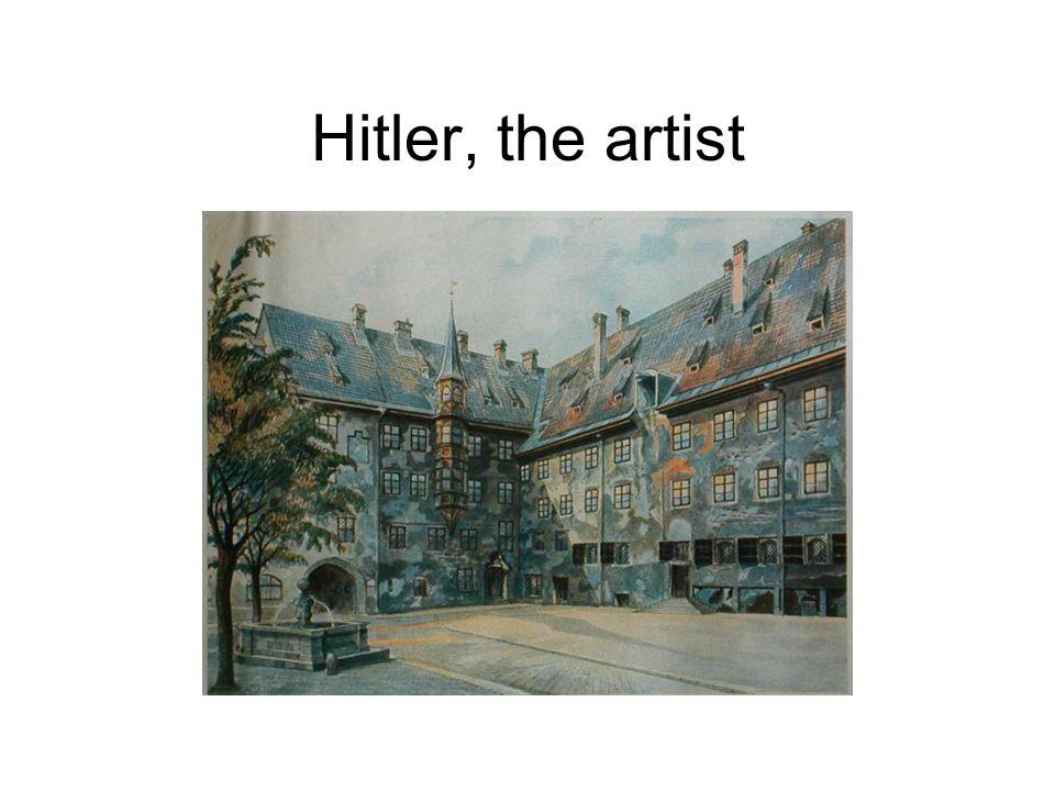 Hitler, the artist