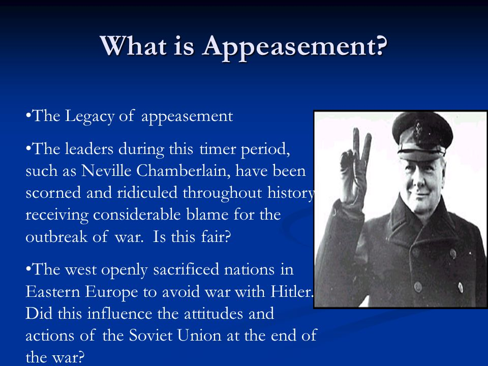 What is Appeasement.