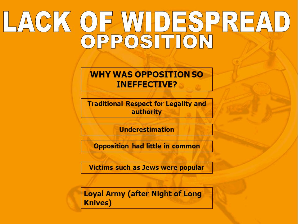 WHY WAS OPPOSITION SO INEFFECTIVE.
