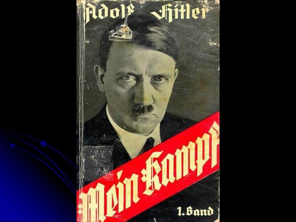 Mein Kampf Main Ideas: Main Ideas: Germans belonged to master race Germans belonged to master race Jews, Serbs, Poles, etc… were enemies Jews, Serbs, Poles, etc… were enemies All Germans should unite to form 1 great nation.