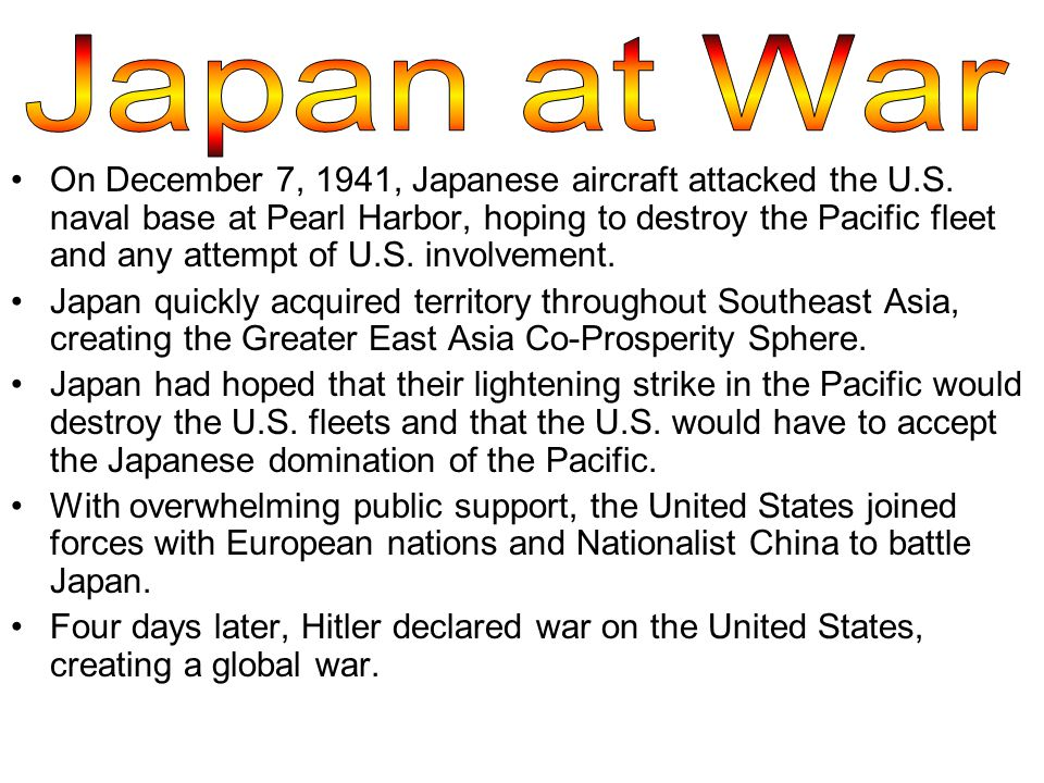 On December 7, 1941, Japanese aircraft attacked the U.S.