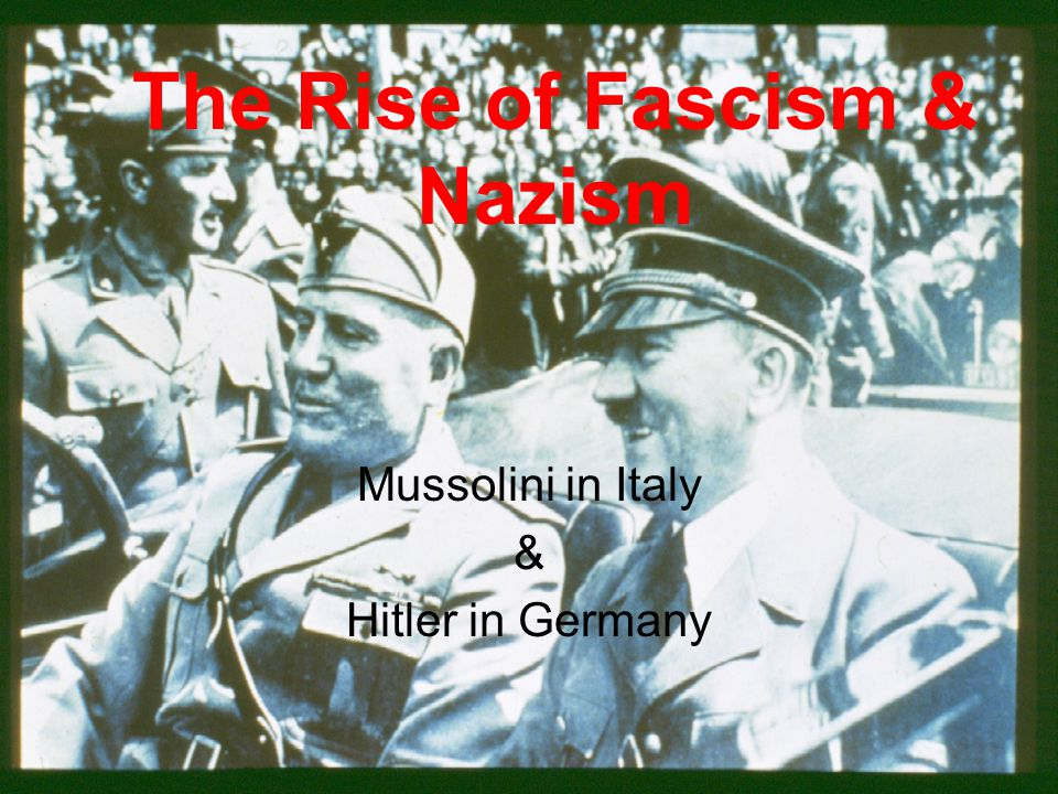 4.Hitler and the Rise of Nazi Germany A.Weimer Republic weakened by disunity and inflation.
