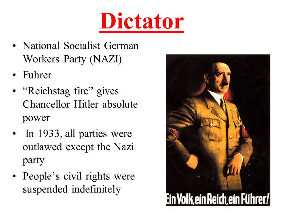 Appeal of Hitler Cult of Personality Germany was in the midst of an economic depression with hyper-inflation Hitler was a WWI hero who talked about bringing glory back to the Fatherland He promised the rich industrialists that he would end any communist threat in Germany Constantly blamed Jews for Germany's problems, not the German people Hitler was an excellent public speaker and charismatic