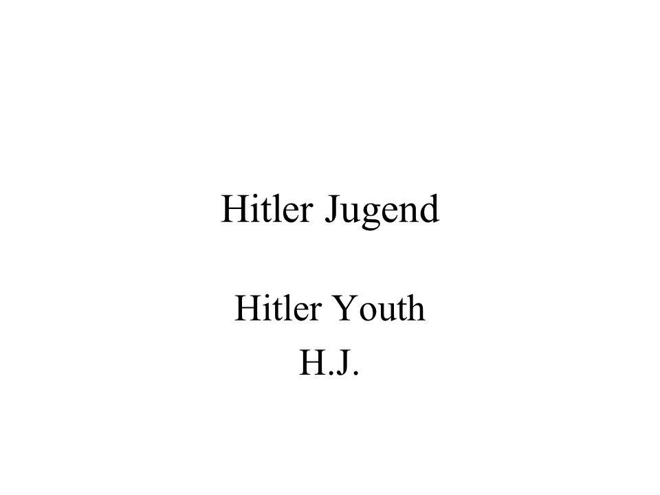 Hitler Jugend Hitler Youth H.J.