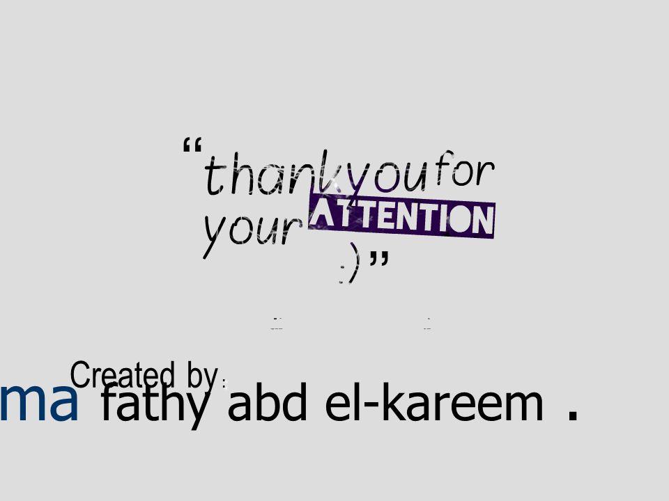 : Created by : Salma fathy abd el-kareem.