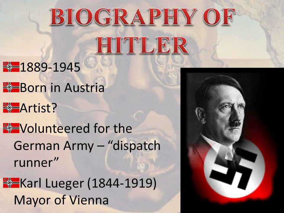 1889-1945 Born in Austria Artist.