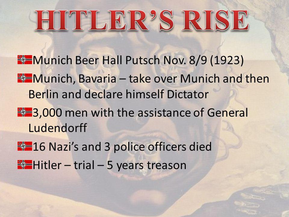 Munich Beer Hall Putsch Nov.