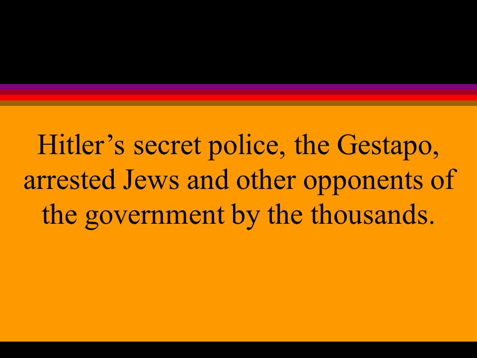 4. The Nazi government regulated wages, working hours, housing, and the production of goods.