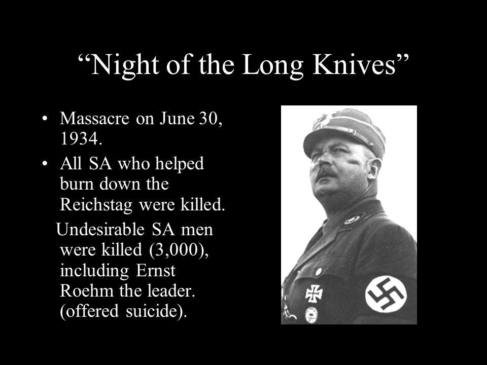 Night of the Long Knives Massacre on June 30, 1934.