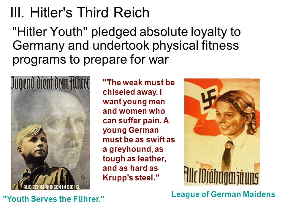 III. Hitler's Third Reich