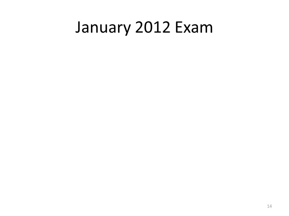 January 2012 Exam 14