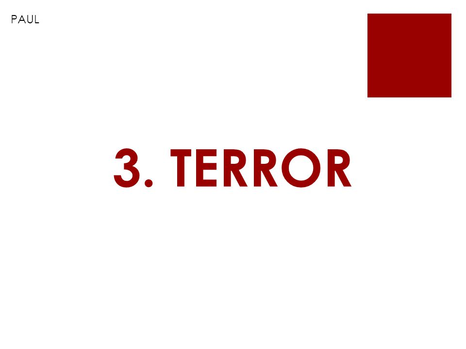 PAUL 3. TERROR