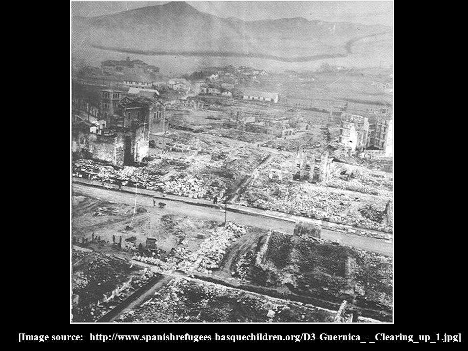 [Image source: http://www.spanishrefugees-basquechildren.org/D3-Guernica_-_Clearing_up_1.jpg]