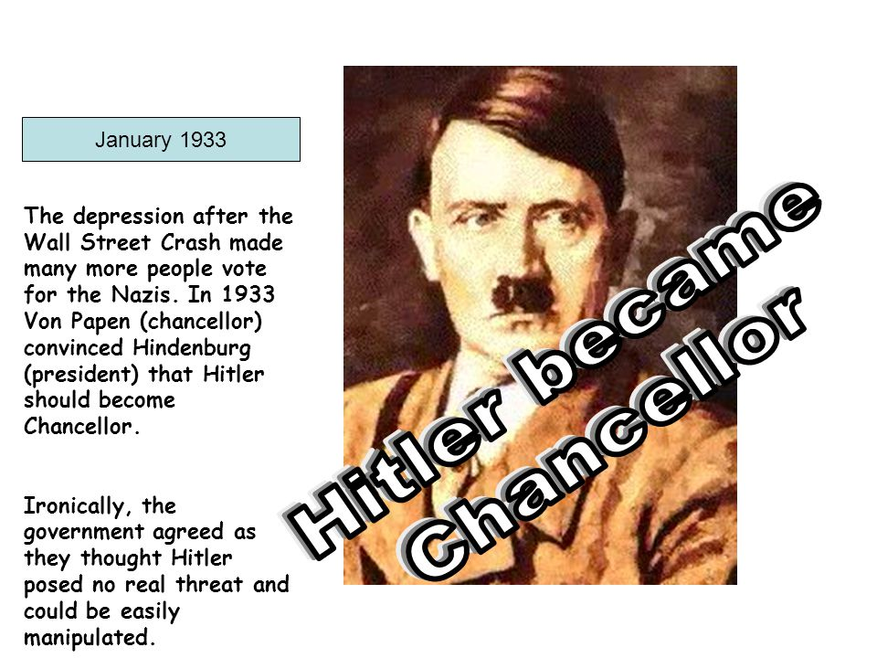 Germany ceased paying reparations altogether Began secret rearmament Germany began to build an air force Reoccupied the Rhineland, which had remained a part of Germany but was demilitarized under the terms of the Versailles treaty Annexation of Austria Annexed Memel ( in Lithuania)