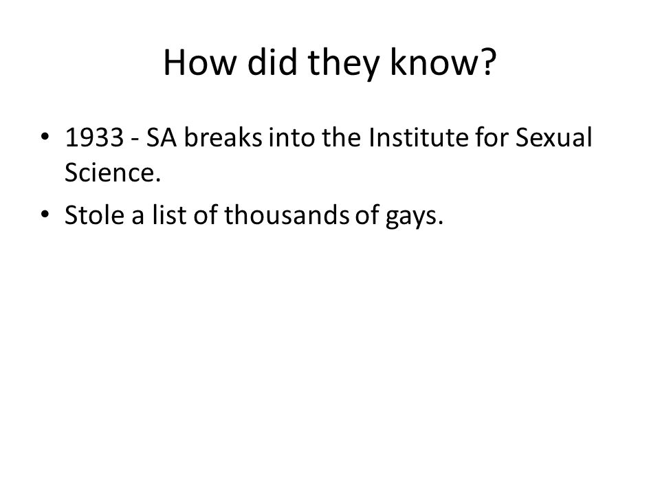 1933 - SA breaks into the Institute for Sexual Science.