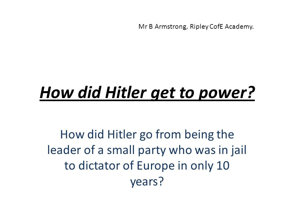 Grade D – Must work harder As a young child, Hitler was quite a normal boy.