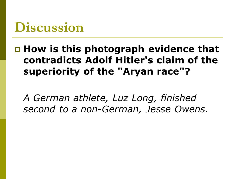 Background  Berlin was chosen as the site for the Olympic Games two years before Adolf Hitler came to power.