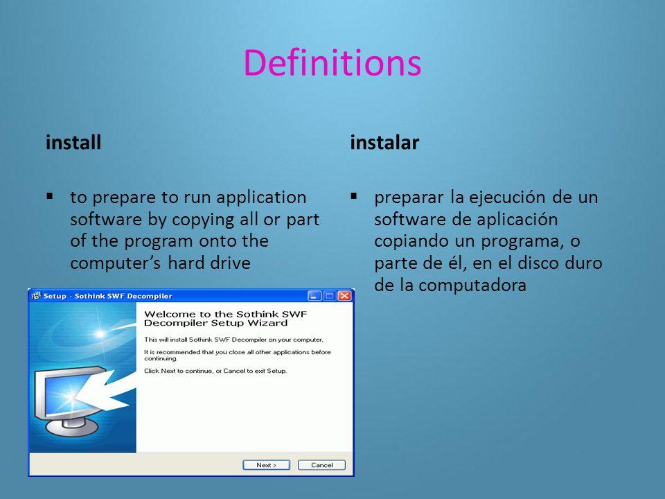 Definitions public domain software  a program distributed for free without a copyright software de dominio público  programa que se distribuye de forma gratuita, sin derechos de autor