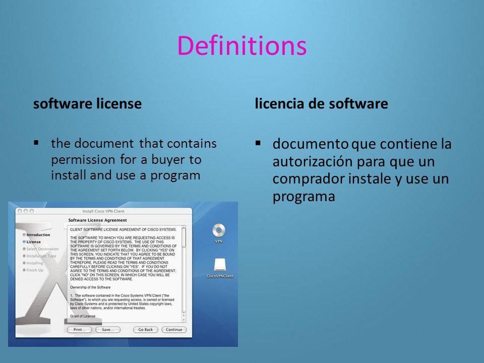 Definitions uninstall  to remove a program from a computer desinstalar quitar un programa de una computadora