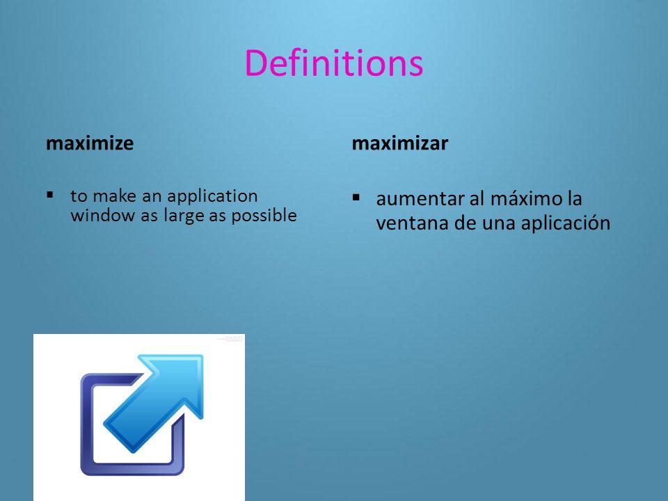Definitions(5-3 using application software) launch  to start an application program activar  poner en marcha un programa de aplicación