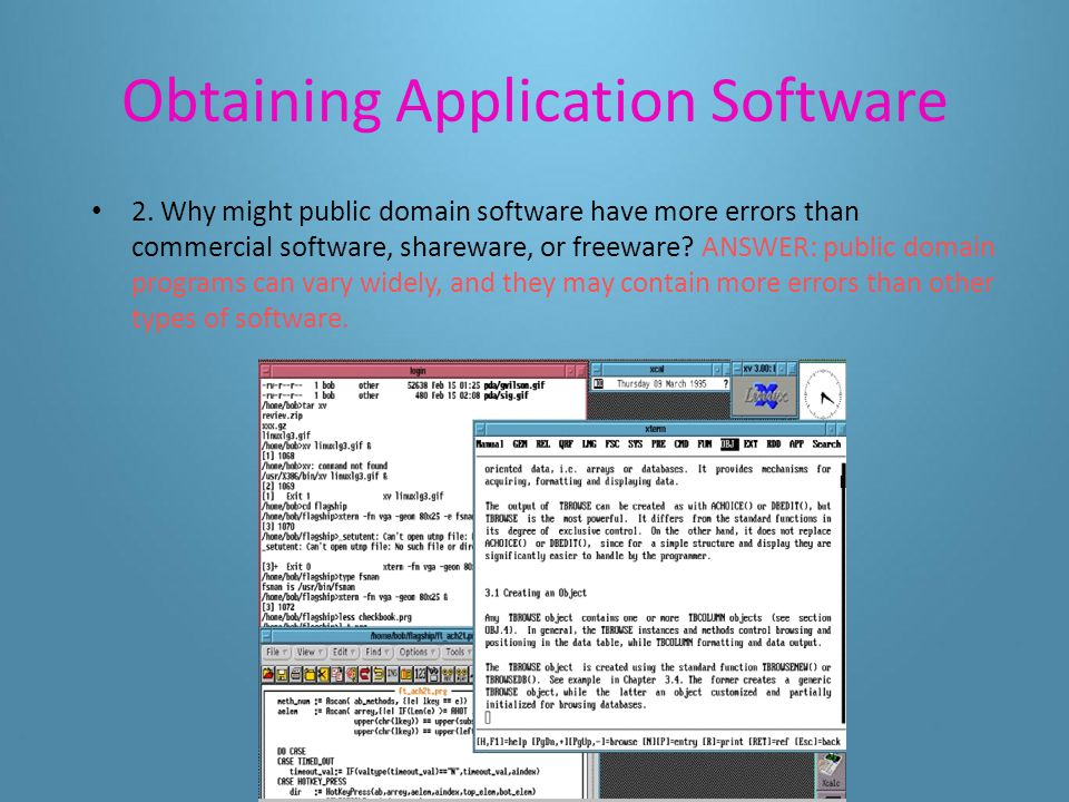Obtaining Application Software 1.Why must computer hardware and software be compatible.