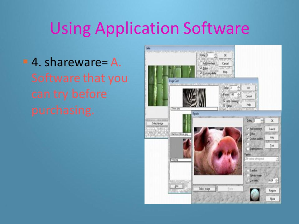 Using Application Software 3.office suite= G. Software that combines several applications.