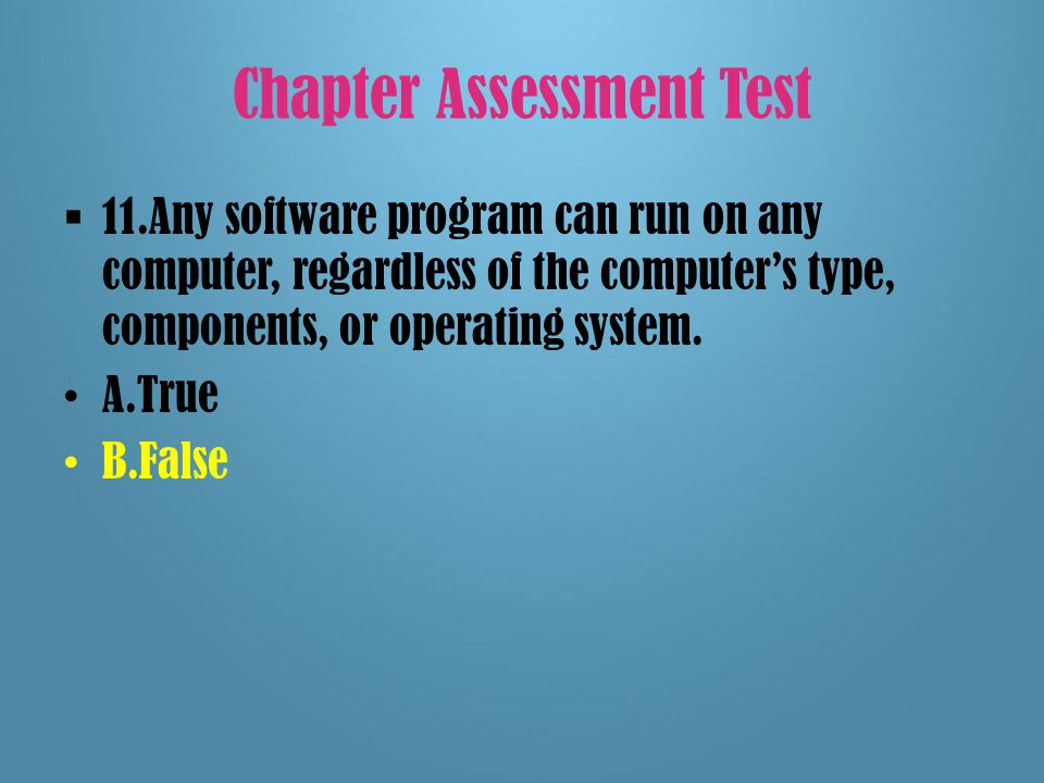 Chapter Assessment Test 10.Which command finds a document that was previously saved and displays it.