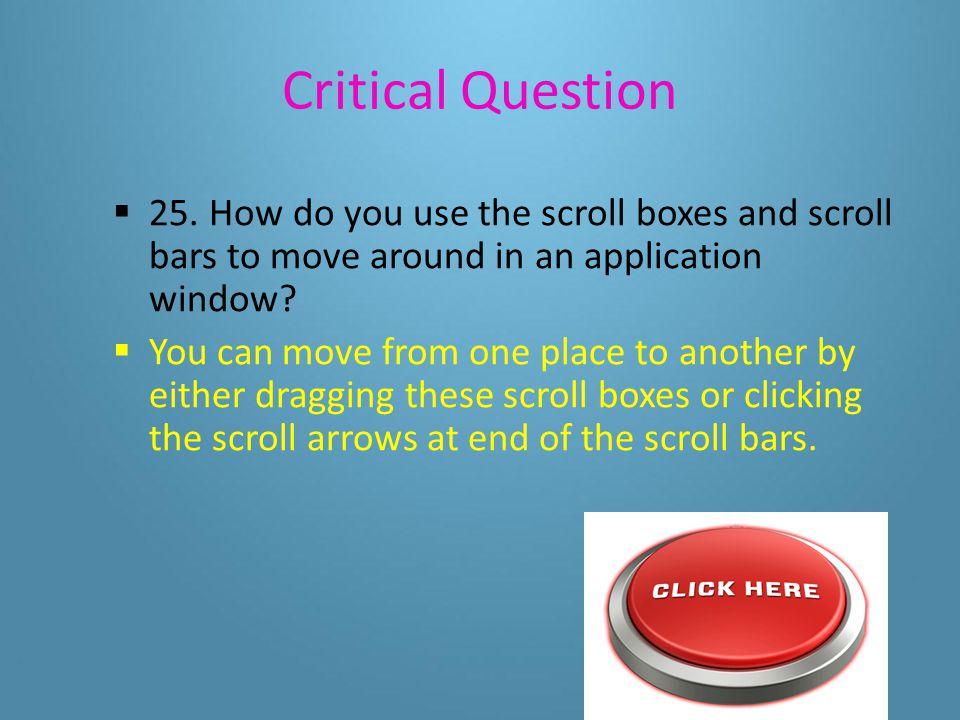 Critical Questions 24.