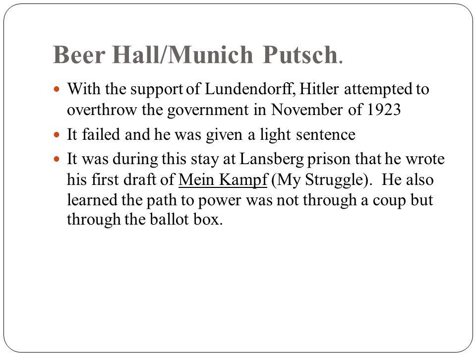 Beer Hall/Munich Putsch.
