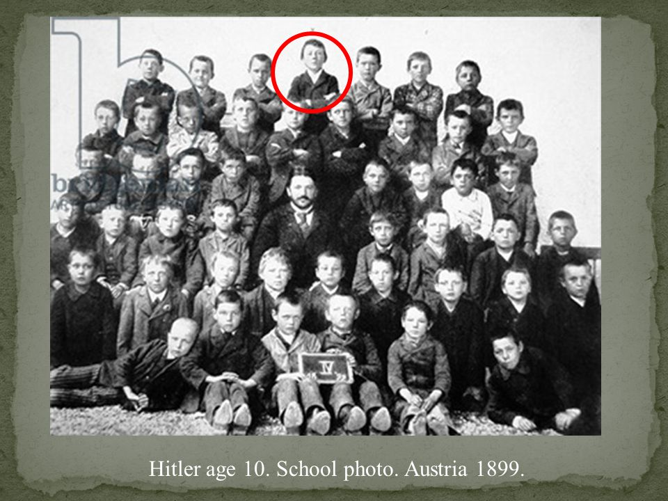 Hitler age 10. School photo. Austria 1899.
