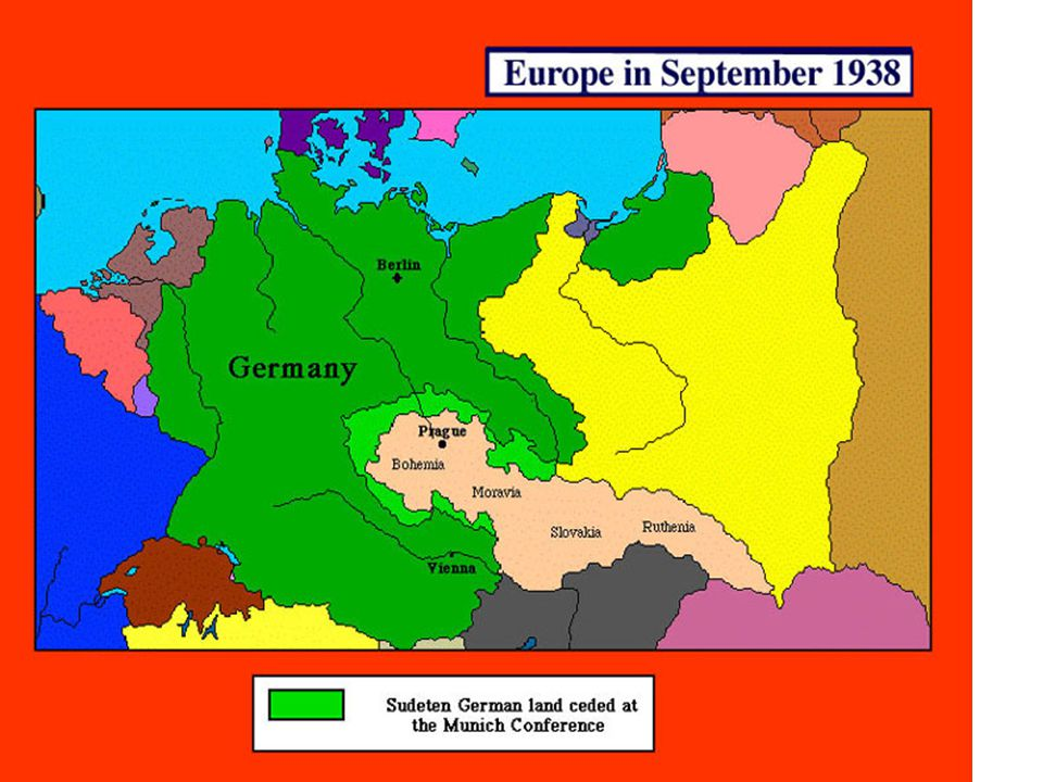 Anschluss(Reuniting former German territory) with Austria, 1938 Hitler's homeland, Austria –Mainly ethnic Germans –Many supported anschluss –Hitler fa