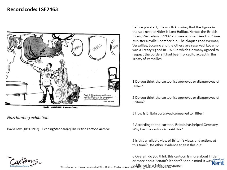 This document was created at The British Cartoon Archive - http://www.cartoons.ac.uk Record code: LSE2463 Nazi hunting exhibition. David Low (1891-196
