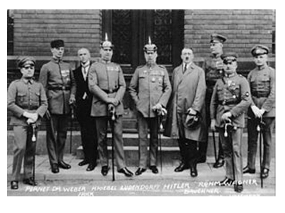 The Night of the Long Knives June 30-July 2 1934: Hitler purges the SA and their leader Ernst Rohm – They had become too powerful (1 mil active and 2 mil reserves) and posed a threat to the regular army – 1,000 people murdered without trials (Carried out by Heinrich Himmler and the SS (Schutzstaffel) August 2,1934 Hindenburg dies and Hitler combines the positions of Chancellor and President