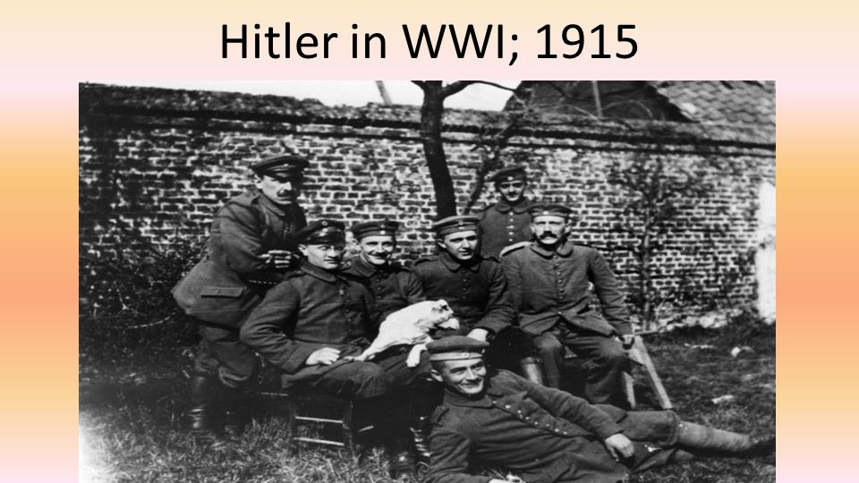 Hitler in WWI; 1915