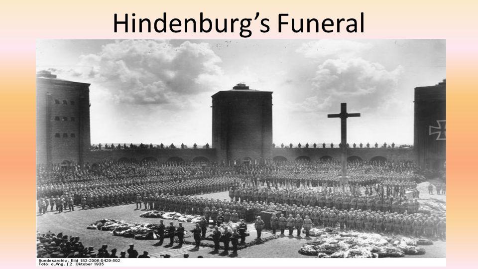 Hindenburg's Funeral