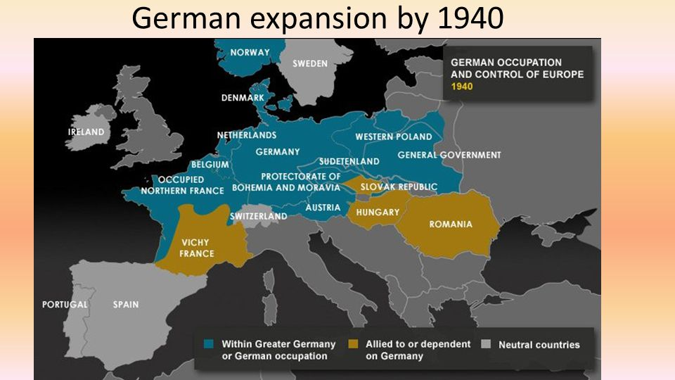 German expansion by 1940