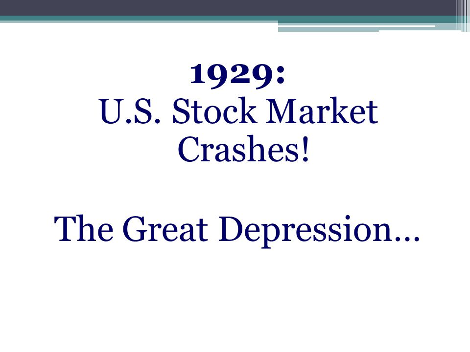 1929: U.S. Stock Market Crashes! The Great Depression…