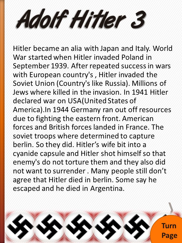 Hitler became an alia with Japan and Italy.