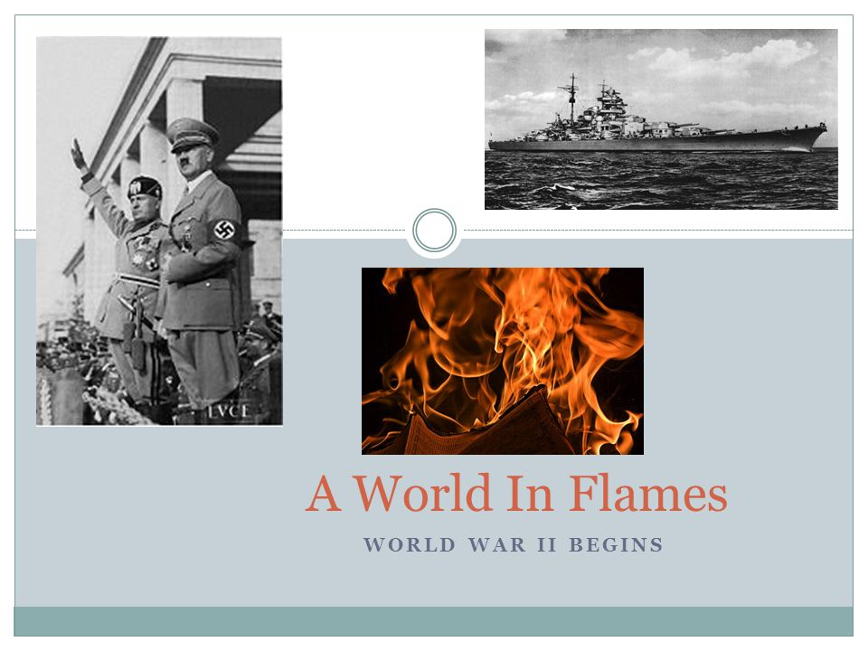 WORLD WAR II BEGINS A World In Flames