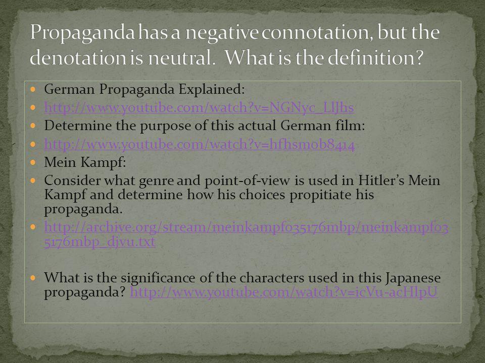 Compare and contrast American propaganda to Germany and Japan's propaganda.
