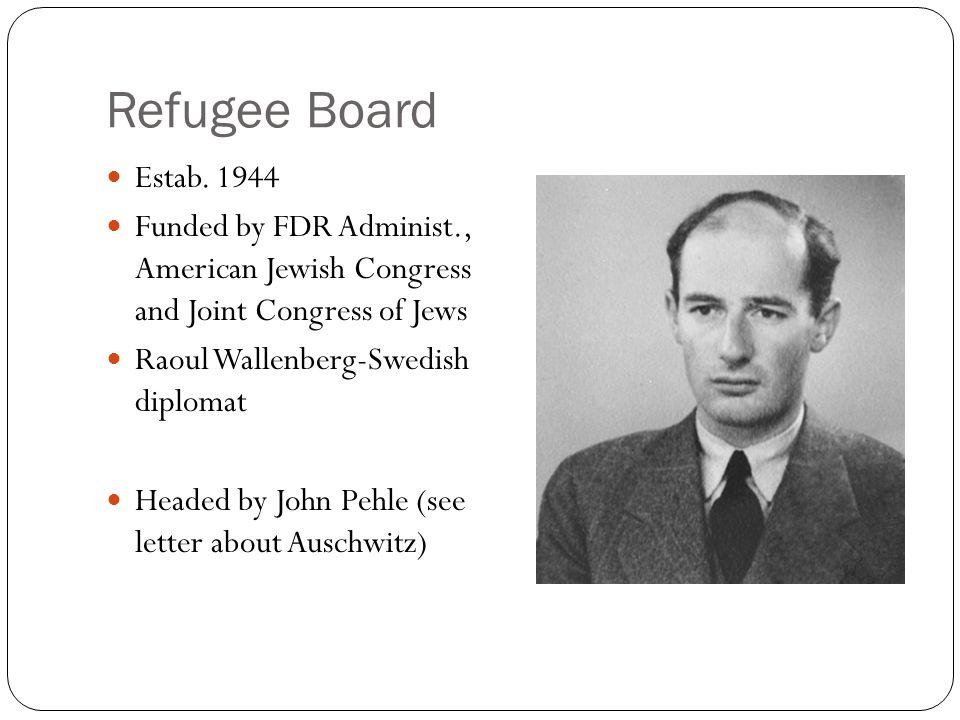 Refugee Board Estab.