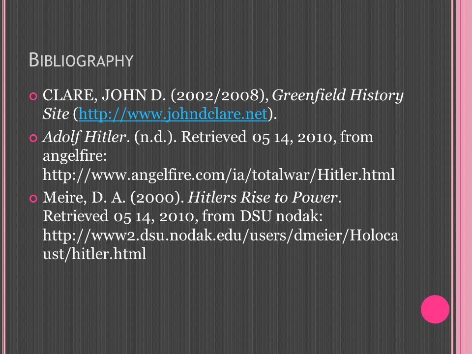 B IBLIOGRAPHY CLARE, JOHN D.