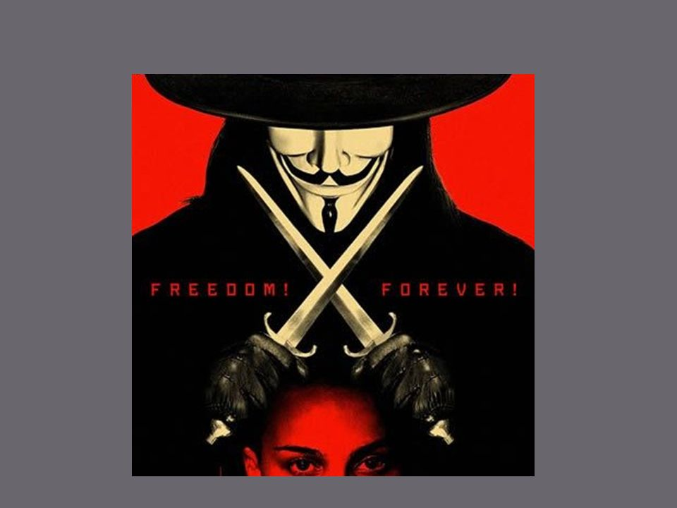 The Graphic Novel Written by Alan Moore and illustrated by David Lloyd First published between 1982 and 1985 (black and white) Drew on many science fiction/dystopian works such as Orwell's 1984 Remember remember the fifth of November, the gunpowder treason and plot.