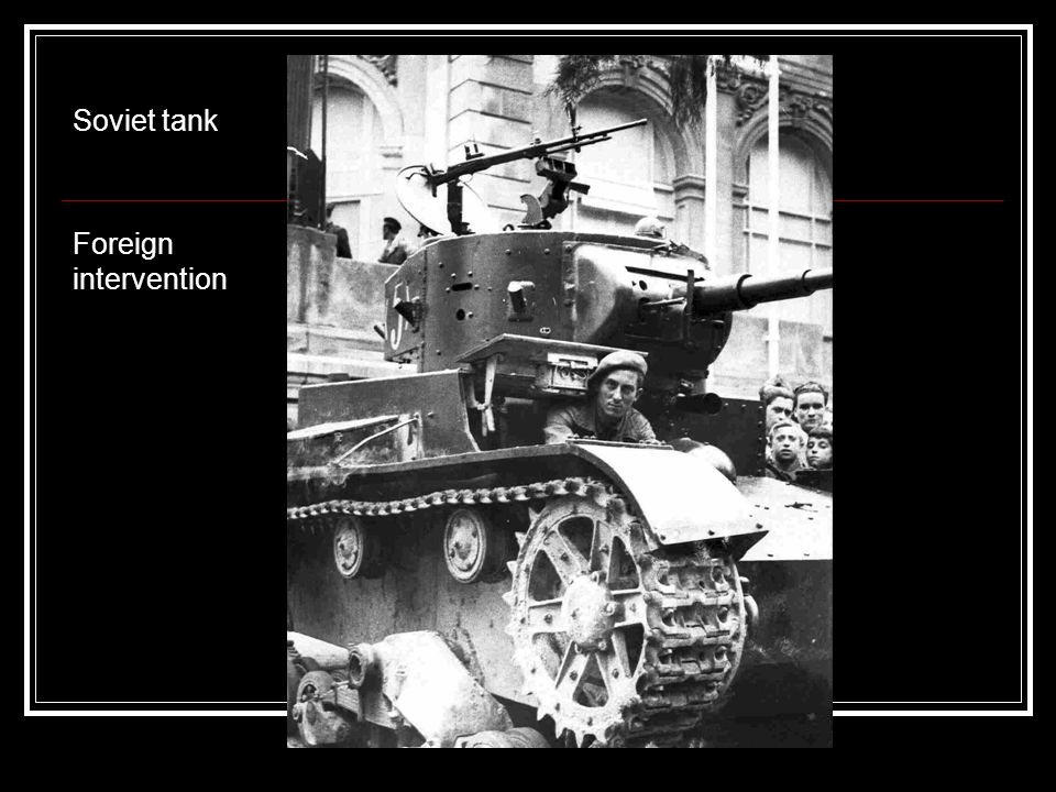 Soviet tank Foreign intervention