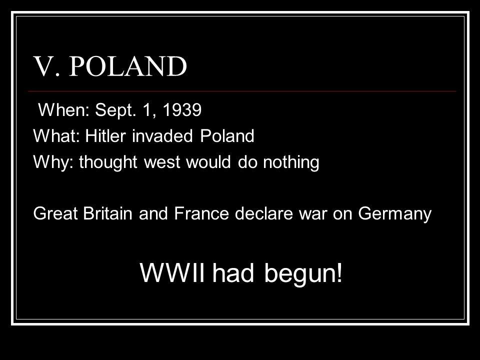 V.POLAND When: Sept.