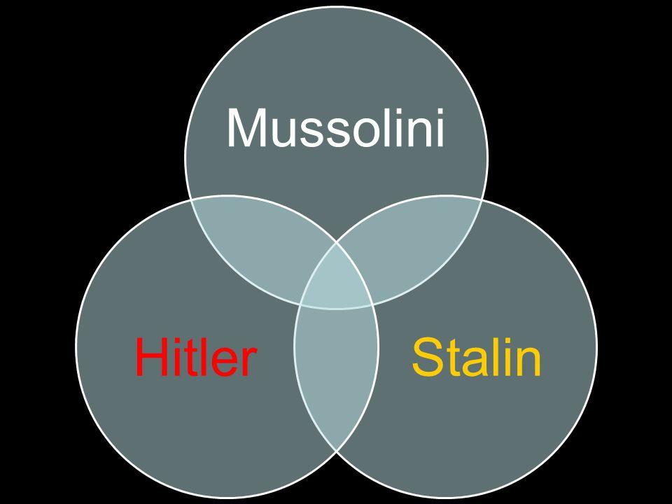 Mussolini StalinHitler